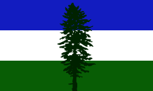 Cascadia's unofficial tricolored flag
