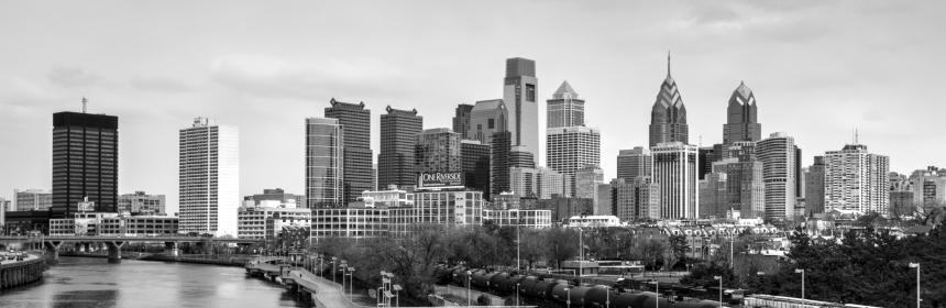 Source https://commons.wikimedia.org/wiki/File:Philadelphia_cityscape_BW_20150328.jpg