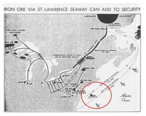 Map 1: the proposed St. Lawrence Seaway: the inland route